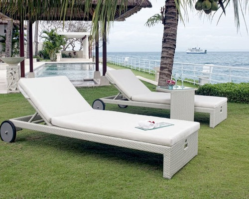 Miha Chaise Lounge Chair With Wheels From Skyline Design   Outdoor Chaise  Lounges