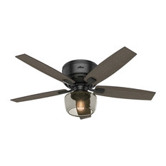 50 most popular black ceiling fans for 2018 houzz hunter fan company hunter 52 bennett low profile light matte black ceiling fan aloadofball Images
