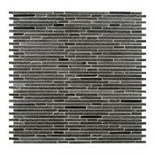 """Interlocking Pattern Honed Tile Basalt Blue Bamboo, 12""""x12"""", Set of 30"""