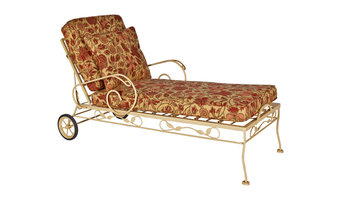 Brown Jordan Wrought Iron Chaise
