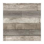 Reclaimed Wood Plank Natural Peel & Stick Wallpaper
