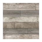 Reclaimed Wood Plank Natural Peel and Stick Wallpaper, Neutral, Bolt