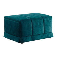 Krakow Pouffe Fold-Out Bed, Blue, 48x93 cm
