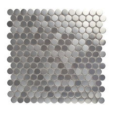 Anvil Stainless Steel Over Porcelain Mosaic Wall Tile, Penny