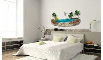 Paradise Beach By Steve Heriot - Painted Steel Wall Art