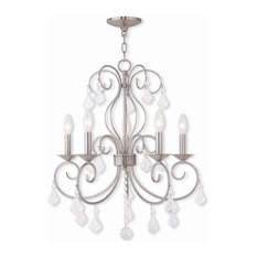 Livex Donatella 5-Light Mini Chandeliers, Brushed Nickel