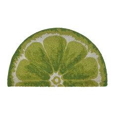 "Natura Lime Indoor/Outdoor Mat Green 18""x30"" 1/2 RD"