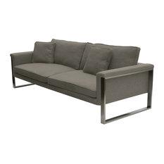 sohoConcept - Boston Sofa, Stainless Steel Base, Dark Gray Tweed - Sofas