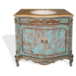 Vintage Traditional Bathroom Vanities And Sink Consoles by Lutina Old World Furniture