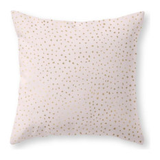 "Dotted Gold and Pink Throw Pillow Cover, 18""x18"" With Pillow Insert"