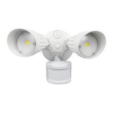 LED Motion Sensor Outdoor Wall Light, White