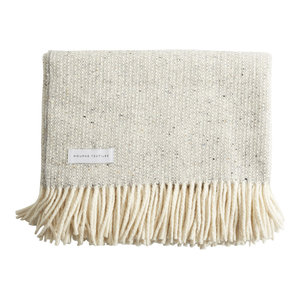 Handmade Tweed Emphasize Blanket by Mourne Textiles, Silver Grey
