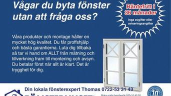 Finansiering av nya fönster och dörrar