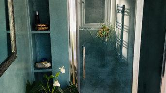 Tadelakt bathroom and shower installation