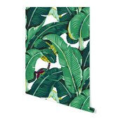 "Banana Leaf Removable Wallpaper, Vibrant, 24""x120"""