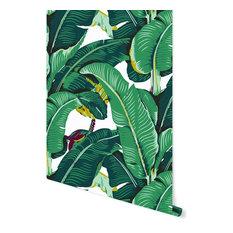 "Banana Leaf Removable Wallpaper, Vibrant, 24""x48"""