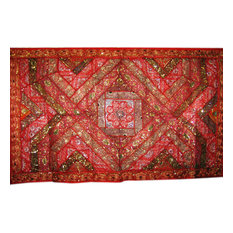 Mogul interior - Consigned Embroidered Tapestry Throw Boho Wall Hanging - Tapestries