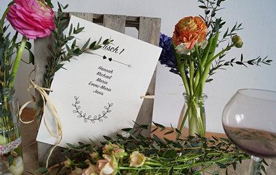 Tischdeko zur Hochzeit: DIY-Ideen im Boho-Stil