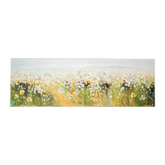 """""""Field of Flowers"""" Oil Painting, 120x40 cm"""