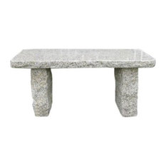 Stone Age Creations, Gold Granite Stone Boulder Bench
