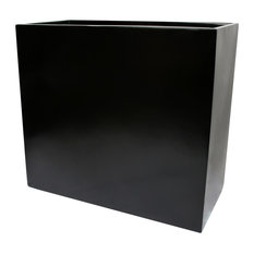 "Calistoga Tall Rectangle Planter Box, Black, 36""x12""x30"""