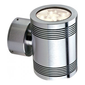 Anodised Aluminium Led Up/Down Wall Light - 12 x 1W LED