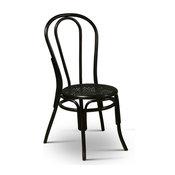 Thonet Style Ben2od Rattan Chairs, Black