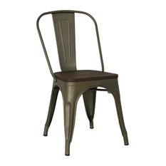 Trattoria Side Chair, Bronze / Elm, Single Chair