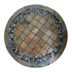 Colorado Mosaic Stone Round Coffee Table, 30""