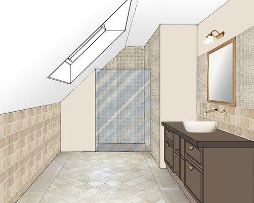 Avant apr s cr ation d 39 une salle de bains dans des combles - Repeindre carrelage salle de bain avant apres ...
