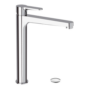 Winner Chrome Plated High Bathroom Sink Mixer Tap, 30.50 Cm, Waste Plug Included