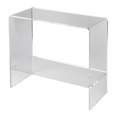butler butler crystal clear acrylic console table console tables