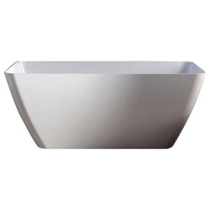 Paola Marble Resin Freestanding Modern Bathtub
