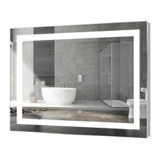 Mod Kent Rectangular Led Mirror With Sensor 48 X36 Bathroom Mirrors