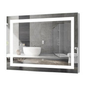 "Kent Rectangular LED Mirror with Sensor, 48""x36"""