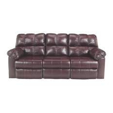 Ashley Furniture Homestore   Ashley Furniture Reclining Sofa With Power,  Burgundy   Sofas
