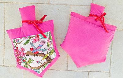 DIY: Make a Darling Dreidel-Shaped Pillow With a Pocket for Surprises