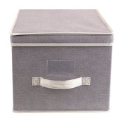 Non-Woven Fabric Collapsible Large Storage Box, Clear Window