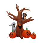 Halloween Inflatable Ghost Tree With Owl and Pumpkins, 8