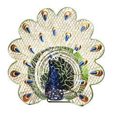 deco breeze deco breeze 13 peacock decorative table fan electric fans - Decorative Fans
