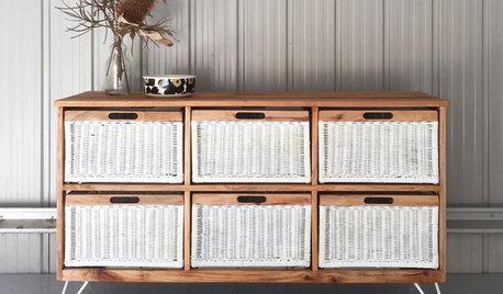 DIY : Moderniser une commode vintage avec tiroirs en osier