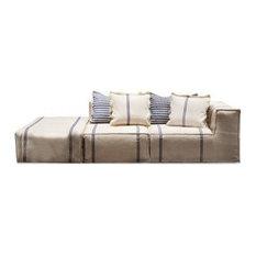 Fish Design Market Post Moduar Sofa, Grey and Blue, Small