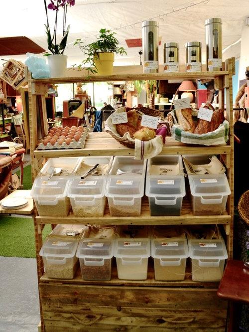 création meuble étagères & tiroir pour une épicerie vrac bio à ... - Creation Meuble Design