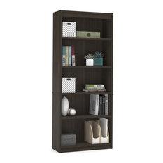 Premium 72-inch Five Shelf Bookcase Dark Chocolate From Bestar