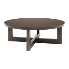 Modern Low Profile Coffee Tables Houzz - Low profile round coffee table