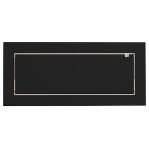 Fläpps Slim and Narrow Birch Plywood Shelf, Black