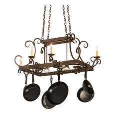"""50"""" Caiden 6-Light W and Downlights Pot Rack"""