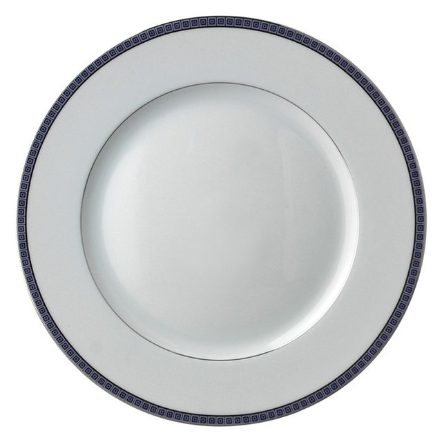 Bernardaud Athena Platinum Navy Dinner Plate  sc 1 st  Houzz & Bernardaud Athena Platinum Navy Dinner Plate - Transitional - Dinner ...