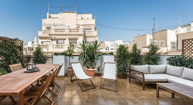 Mediterráneo Terraza y balcón by destudio Arquitectura