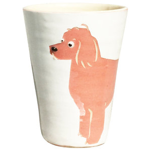 Pink Animal Cups, Poodle, Set of 2